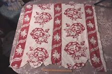 Rare Beautiful Antique Hand Blocked 18thC Toile de Jouy Quilted Linen Fabric