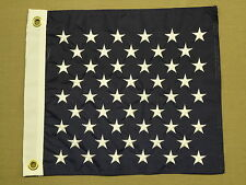 "U.S. Union Jack Indoor Outdoor Embroidered Star Nylon Flag Grommets 13"" X 15"""