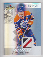 SAM GAGNER 2013-14 Flair Showcase White Hot Jersey Patch #D /18 Edmonton Oilers