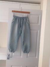 """Ladies 'NEW LOOK """"Light Denim Blu Corto Pantaloni. Taglia 8. buone condizioni."""