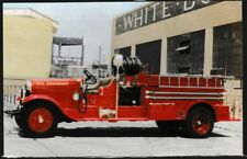 Fire Truck postcard Open Cab Pumper Mt. Pocono Pennsylvania unposted