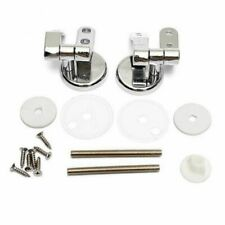 Alloy Replacement Toilet Seat Hinges Mountings Set Chrome with Fittings Scr Y7V2