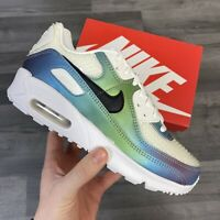 NIKE AIR MAX 90 GS BUBBLE PACK WHITE TRAINERS SIZE UK4.5 US5Y EUR37.5 CM23.5