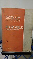 HITACHI EX200 EX200LC Excavator Component Parts Manual Book List