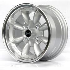 "Ford Escort mk1 mk2 Alufelgen 13"" x 7j et10 4x108 Silver Dish Lip Felgen z3241"
