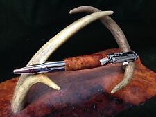 Handmade  30 Caliber LocknLoad Action ChromePen made w/Awesome Amboyna Burl