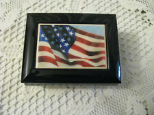 "San Francisco Music Box Flag Trinket Box Plays ""America The Beautiful"""