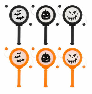 6 Mini Halloween Hand Drums - Pinata Toy Loot/Party Bag Fillers Wedding/Kids