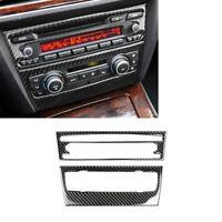 Kohlefaser Konsole CD & AC Panel Abdeckung Trimmen Für BMW 3er E90 2005-2012