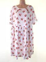 BNWOT SIMPLY BE white floral print tea dress PLUS SIZE 20 euro 48