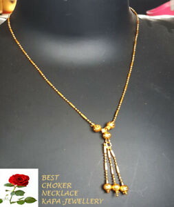 Silver Gold Plated Beaded Chain Choker Necklace Indian Pendant kapa mangalsutra