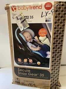 Baby Trend Secure Snap Gear 35 Infant Car Seat Tide Blue with Base NEW!!!