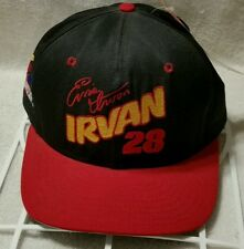 NWT Ernie Irvan Nascar Snapback Hat Cap Number 28 Red Black Yellow
