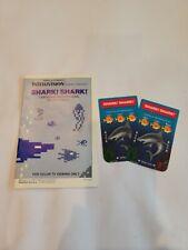 Intellivision Shark Shark Overlays And Manuel, Rare! Free Shipping!