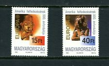 V682 Hungary 1992 art Maya Indian sculpture 2v. MNH