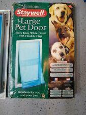 PetSafe Staywell Heavy Duty Aluminum 2-Way Pet Door w/ Flexible Flap White Large