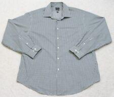 Arrow USA Pocket Dress Shirt Button Up White Green Top XL Extra Large 17.5 34/35