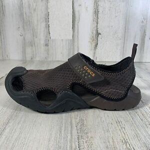 Crocs Swiftwater Mesh Comfort Fisherman Sandals 15041 Men's Size 9 Brown