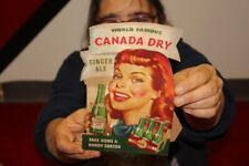 Vintage 1940's Canada Dry Ginger Ale Soda Pop Gas Station Sign