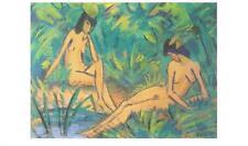 Otto Mueller Mädchen am Wasser Poster Kunstdruck Bild 27x45cm