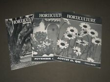 1940 HORTICULTURE MAGAZINE LOT OF 3 ISSUES - NICE PHOTOS - O 2361H
