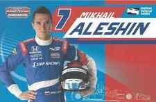 "2016 INDY 500 MIKHAIL ALESHIN RUSSIA INDYCAR 6"" X 9 "" HERO CARD !"