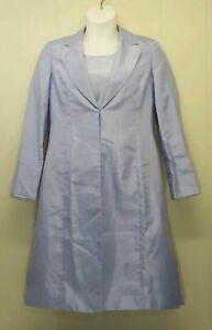 Le Suit 10 2 Pc Dress Long Jacket Bridal Formal Viola Purple Mother Bride NWT