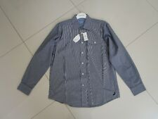 Nautica Men's Regular Fit Blue Stripe Long Sleeve Casual Shirt  Size XL