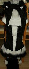 Adult Skunk Cute Fluffy Animal Fancy Dress Leg Warmers Outfit Cosplay BNWOT HAT