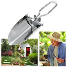 Stainless Steel Foldable Gardening Yard Hand Trowel Shovel Tool With Black Case
