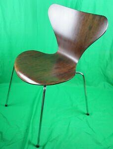 Arne Jacobsen Stuhl ORIGINAL Fritz Hansen, braun, 80er Jahre