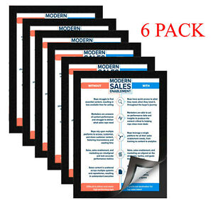 Mainstays 8.5x11 Document Format Picture Frames, Black, Set of 6