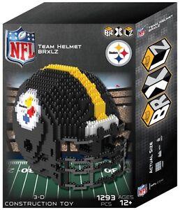Pittsburgh Steelers BRXLZ Team Helmet 3-D Puzzle Construction Toy - 1293 Pieces