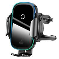 Baseus 15W Wireless Charger Car A/C Air Vent Clip Suction Phone Holder