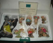 WDCC Disney Snow White & Seven Dwarfs Ornament Set w/Box & COA #1204380