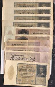 Set 10 Tickets Bank Germany (N2794)