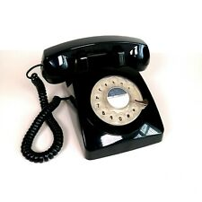 Retro Black Home Phone PTX 1970 Courded Rotary 2012