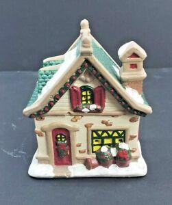 Vintage Hand Painted Ceramic House Village Christmas Decoration