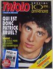 Revue Triolo Novembre 1991 Patrick Bruel