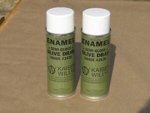Kaiser Willys Jeeps Semi Gloss Olive Drab Flat Spray Paint #2430 Army WW2 Trucks