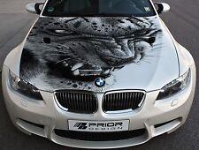 Vinyl Car Hood Full Color Graphics Decal Snow Leopard Wild Cat Fangs Sticker