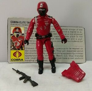 Gi Joe Cobre Crimson Guard Elite Trooper v1 Complete with 1986 Version File Card