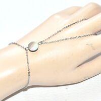 Chaîne de main bracelet bague acier inoxydable Nacre abalone bijou