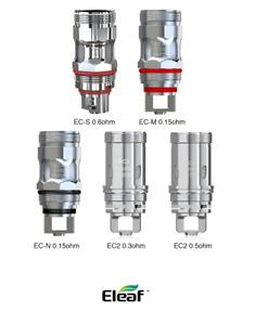 (5-Pack) Genuine Eleaf EC SERIES EC-M/EC-N/ ECML/ EC/ECL/EC-S Coils