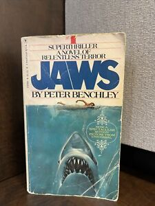 Vintage JAWS Novel Paperback By Peter Benchley Bantam Books Good Condition