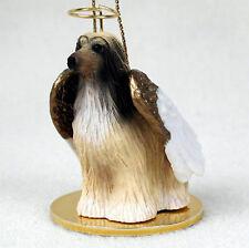Afghan Hound Dog Figurine Angel Statue Hand Painted Tan & White