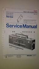 Phillips d8167 service manual original repair book stereo boombox radio tape