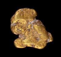 Matrix Specimen Genuine Calif. Alaska Natural Gold Nugget 1.33gr 9.77mm x 7.95mm