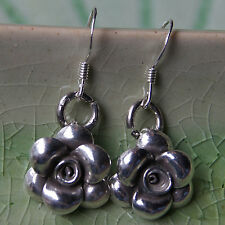 Hill tribe Pure Silver Flower Earrings Thai Karen