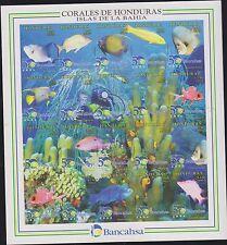 O) 1998 HONDURAS, DIVING IMPERFORATE, FISH-MARINE LIFE-CORALS-INVERTEBRATES IN T